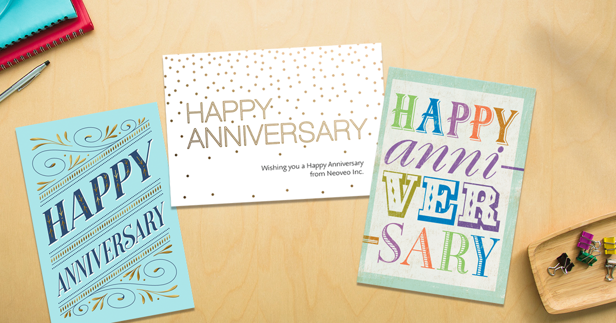 Writing Anniversary Cards